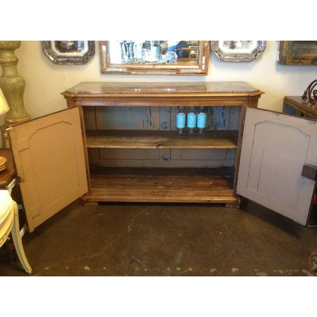 Vintage Walnut Buffet With Marble Top - Image 3 of 6