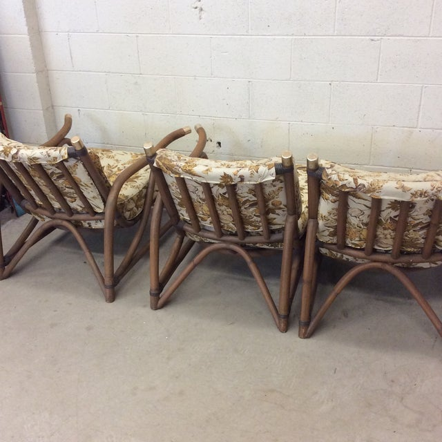 Brown McGuire Style Bamboo Patio Set For Sale - Image 8 of 13