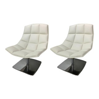 Jehs & Laub for Knoll Pedestal Base Lounge Chairs - A Pair