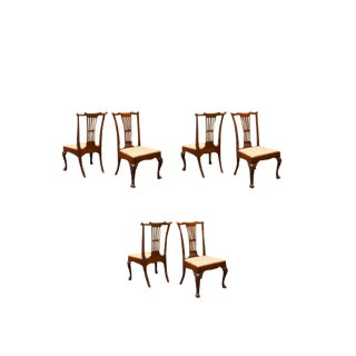 18th Century Vintage Irish Chippendale Side Chairs- Set of 6 For Sale