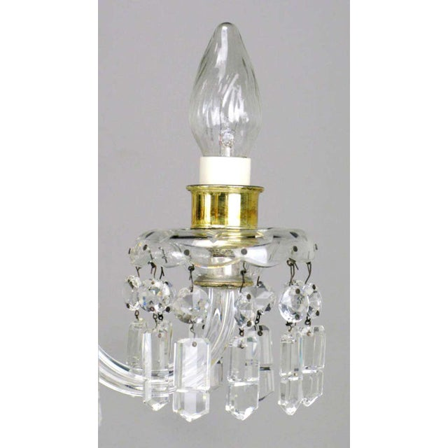 1940s Lightolier Cut-Crystal Five-Arm Chandelier, Circa 1940s For Sale - Image 5 of 12