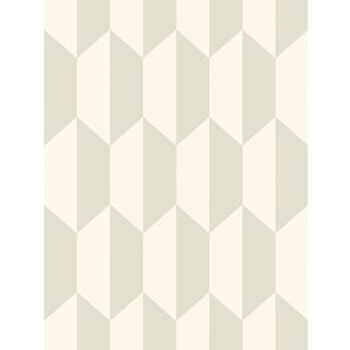 Cole & Son Tile Wallpaper Roll - White And Stone For Sale