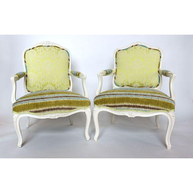19th French Bergere Chairs - Pair - Image 2 of 6