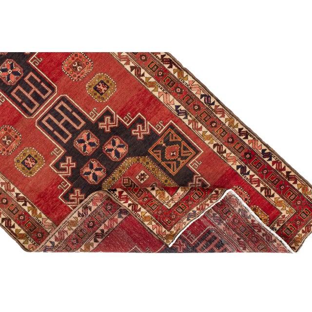 "Textile Apadana - Vintage North West Persian Rug, 4'7"" X 11'3"" For Sale - Image 7 of 9"