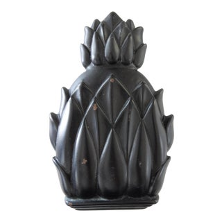 Contemporary Vintage Newport Black Pineapple Door Knocker
