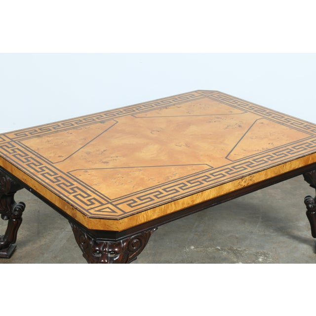Baker Burlwood Coffee Table - Image 8 of 11