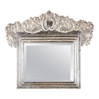 Spanish Colonial Peruvian Silver Table Mirror For Sale