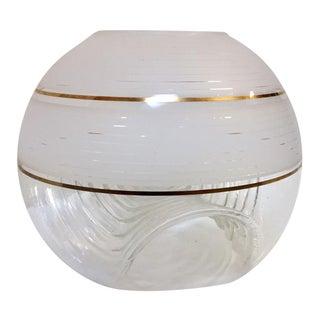 Italian Mid-Century Modern Murano Mazzega Globe Vase For Sale