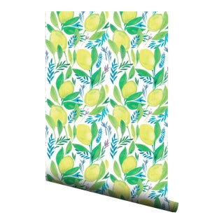 Lemon Patterned Pre-Pasted Double Wallpaper Roll