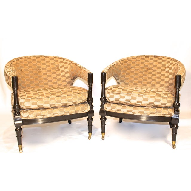 Vintage Mid-Century Barrel Club Chairs - A Pair - Image 6 of 7