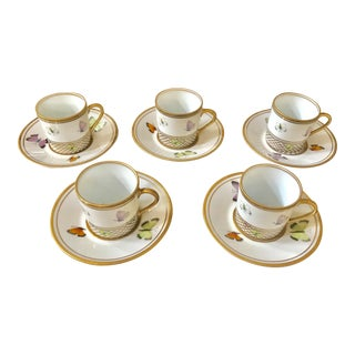 Alberto Pinto Butterfly Net Coffee Cup & Saucer - Set of 5