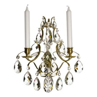 Crystal Sconce Baroque Style Chandelier For Sale