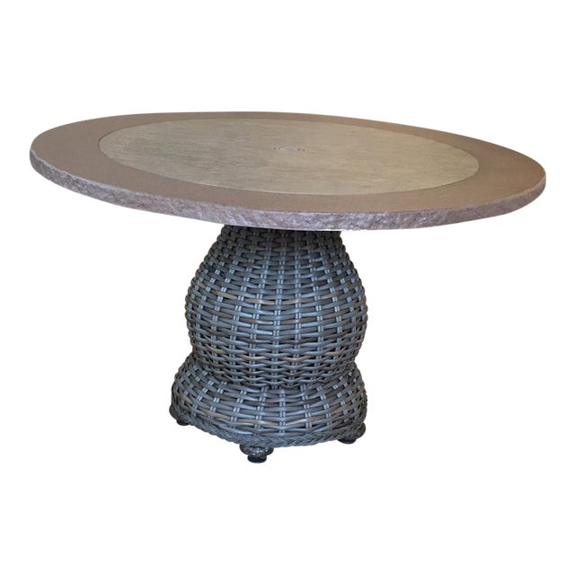 Lane Venture South Hampton Outdoor Dining Table Showroom Sample - Image 1 of 4