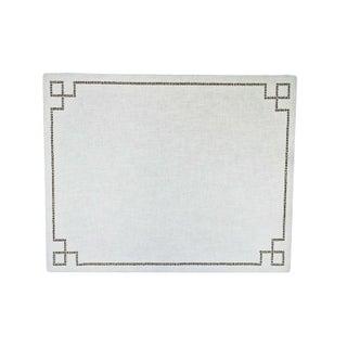 Linen & Nail Head Cork Pin Board For Sale