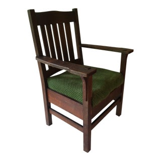 Antique Mission Arm Chair Jm Young 1910's For Sale