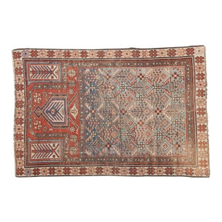 "Antique Caucasian Prayer Fragment Rug - 3'3"" x 4'10"""