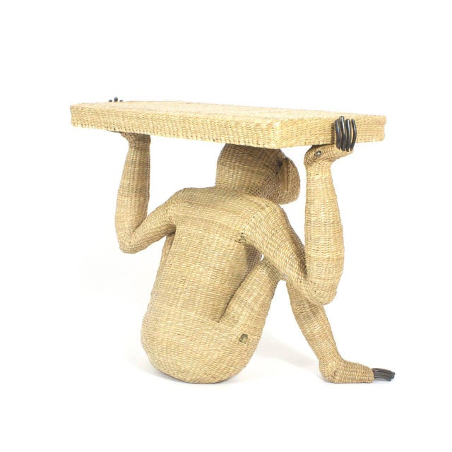 Textile Mario Torres Chimpanzee or Monkey Console For Sale - Image 7 of 9
