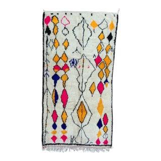Vintage Moroccan Rug- 4′6″ × 8′9″ For Sale