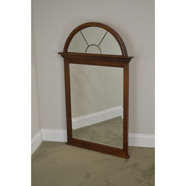 Lexington Cherry Arch Top Beveled Mirror For Sale - Image 12 of 13