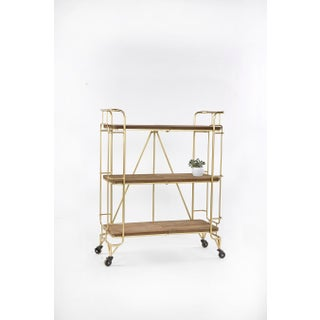 Lulu Shelving Unit -Bar Cart With Wheels Preview