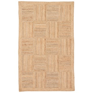Jaipur Living Aaron Natural Geometric Tan Area Rug - 9′ × 12′ For Sale