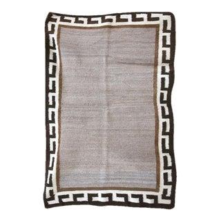 Navajo Single Saddle Blanket - 2′7″ × 3′11″