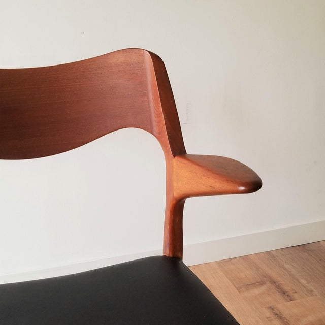 1960s Newly Upholstered Niels Moller Model 55 Dining Chair For Sale - Image 10 of 13