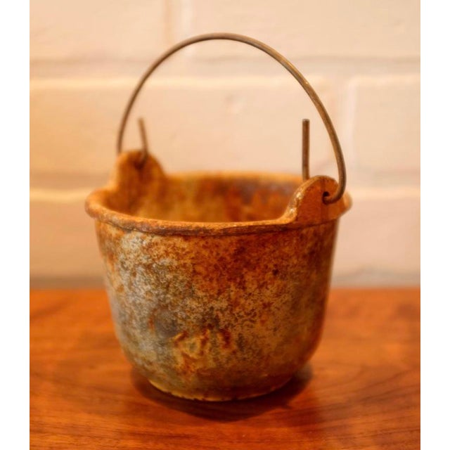 Patinated Foundry Smelting Crucible For Sale - Image 4 of 9