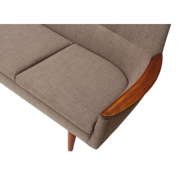 Nanna Ditzel Norwegian Sofa with Sculpted Solid Teak Details For Sale - Image 4 of 12