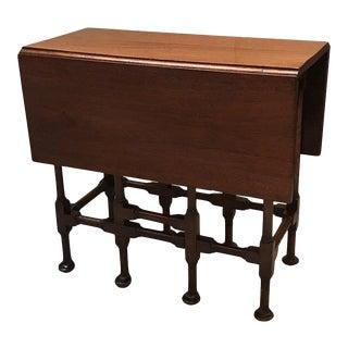 C. 1900 Mahogany Gate Leg Drop Leaf Side Table For Sale