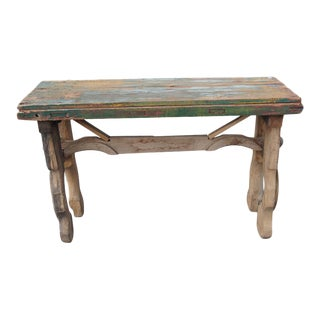 Vintage Mexican Console Work Table
