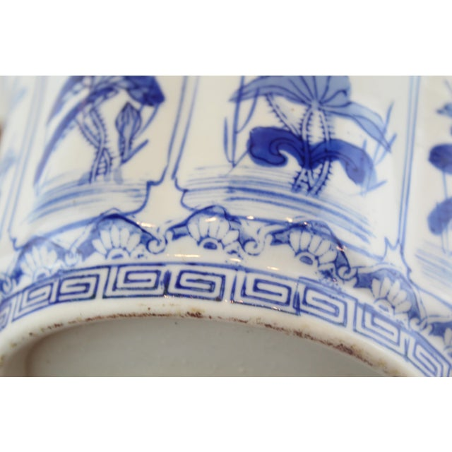 Asian Vintage Mid Century Small Lotus Planter For Sale - Image 3 of 6