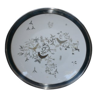 "Rosenthal ""Birds on Trees"" Silver Banded Plate For Sale"