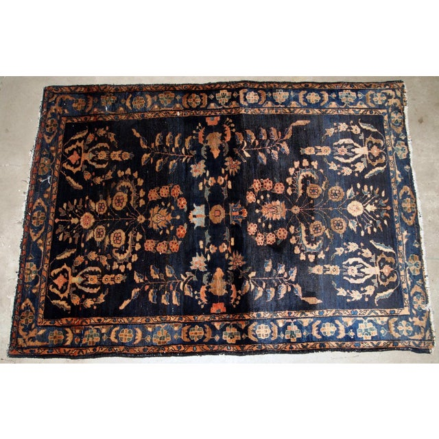 1920s, Handmade Antique Persian Sarouk Rug 3.3' X 5.4' For Sale - Image 4 of 9