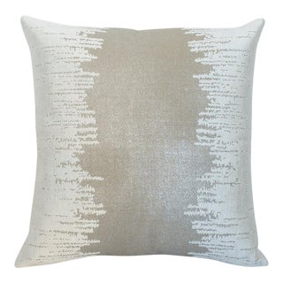"Piper Collection Birch Linen Embroidered ""Lee"" Pillow"