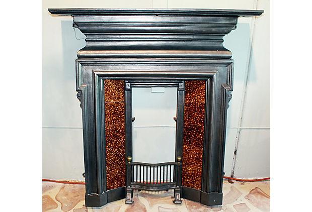 English Cast Iron Fireplace Mantel Chairish
