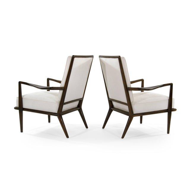 T.H. Robsjohn-Gibbings T.H Robsjohn-Gibbings Wing Arm Lounge Chairs - a Pair For Sale - Image 4 of 11