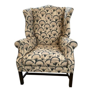 """Wingback in Klc """"Papyrus"""" Chair For Sale"""