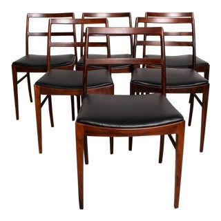 Mid-Century Danish Modern Model 430 Dining Chairs by Arne Vodder for Sibast - Set of 6 For Sale