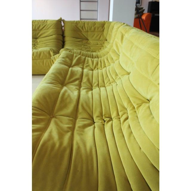 Ligne Roset Late 20th Century Ligne Roset 3-Piece Yellow Sofa For Sale - Image 4 of 5