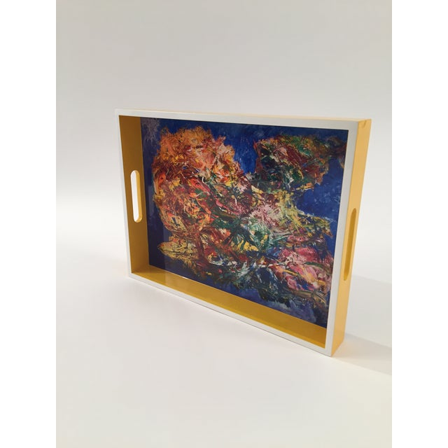 """Lacquer tray by Bruce Mishell collections """"The other side."""""""