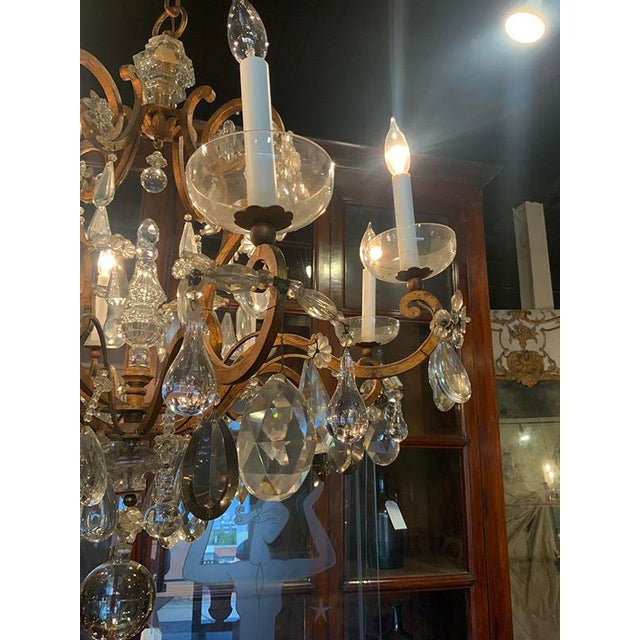 Transparent French Baques Crystal Chandelier For Sale - Image 8 of 8