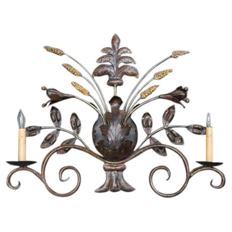 French Sculptural Wall Sconce - Image 1 of 4