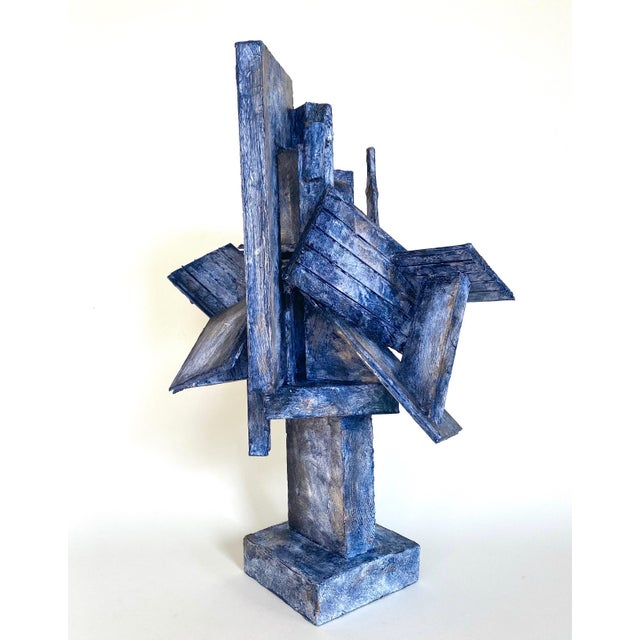 Abstract mixed-media sculpture dating to the mid-20th century by self-taught Scottish artist Bill Low. Low (1898-1981) was...
