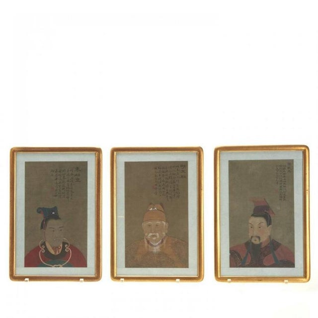 Asian Antique Early 20th Century Antique Chinese Ancestral Portrait Paintings- Set of 8 For Sale - Image 3 of 7