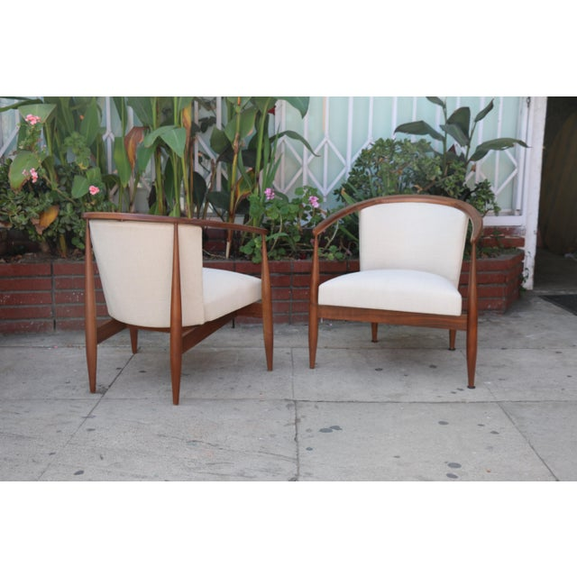 Brown Kodawood Lounge Chairs - a Pair For Sale - Image 8 of 11