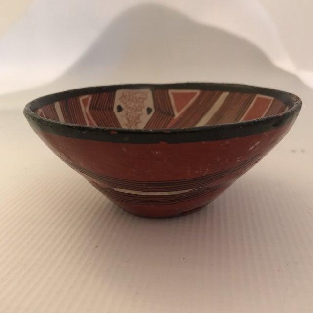 Orange Art Pottery Bowl For Sale - Image 8 of 13