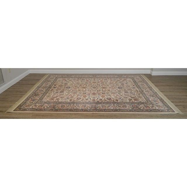 """Traditional Karastan 8'8"""" X 10'6"""" Tabriz Room Size Rug Carpet For Sale - Image 3 of 12"""