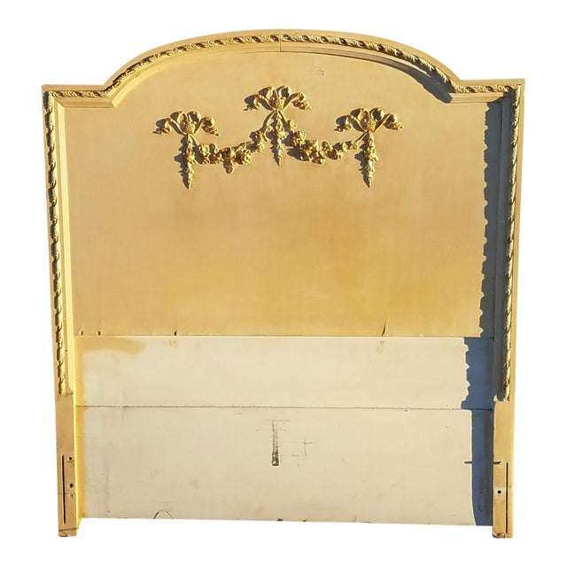Antique Neoclassical Single Headboard - Image 1 of 5