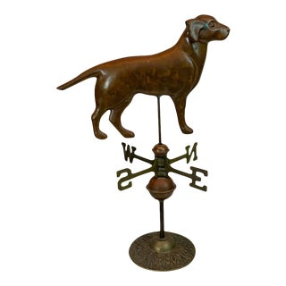 Vintage Copper and Brass Table Top Model of a Weathervane For Sale